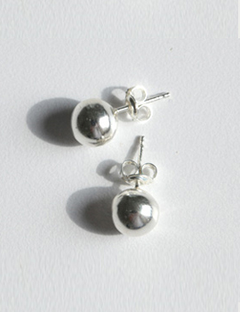 silver ball earing
